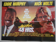 Another 48 Hours, Original UK Quad Poster, Eddie Murphy, Nick Nolte, '90 (FINE-)
